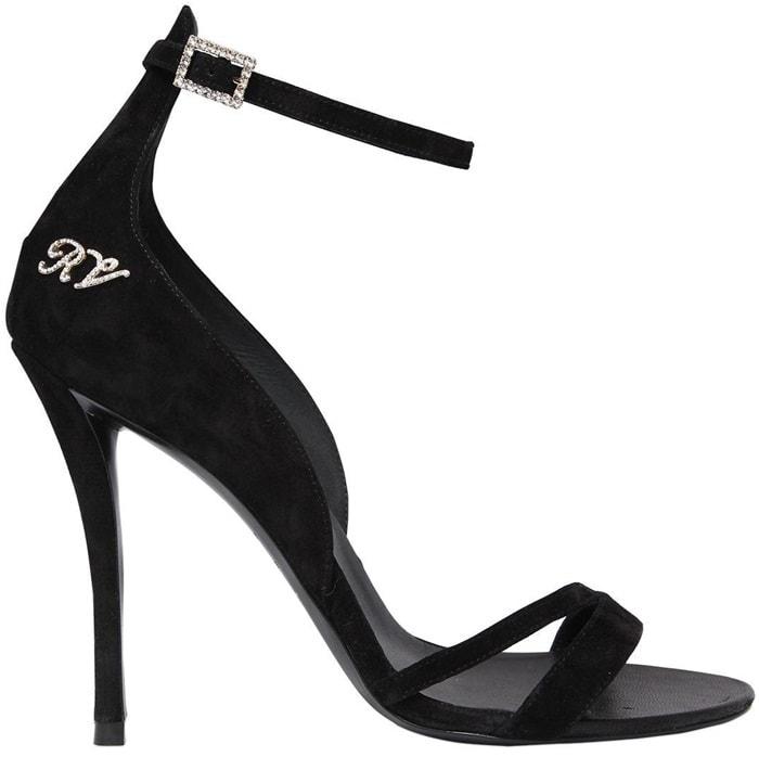 Black Roger Vivier Sin Logo Suede Sandals