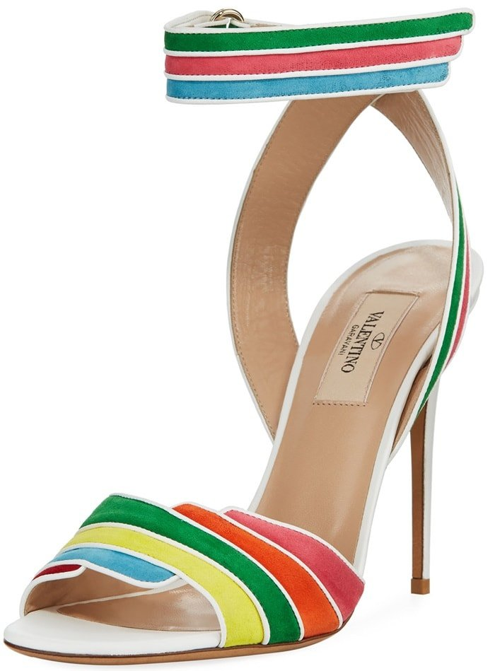 Rainbow Ankle-Wrap High Sandals