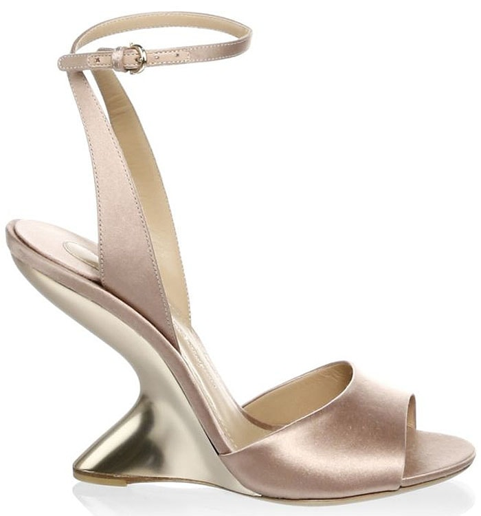 Salvatore Ferragamo 'Arsina' curved-wedge sandals blush chai