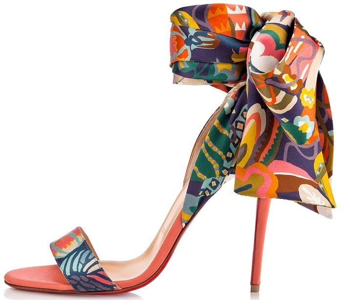 Peachy-Pink Liberty Print Sandale Du Desert Sandals