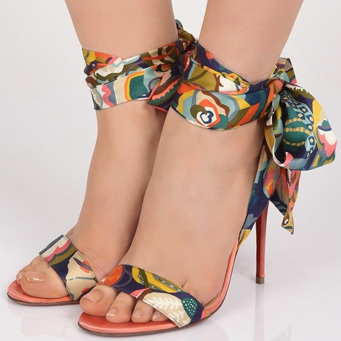 buy popular 9f61b 60ced Sandale Du Desert Sandals With Ankle Scarf by Christian ...