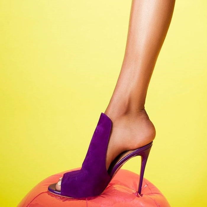 Purple Mule-Inspired 'Sinful' Stiletto Heels