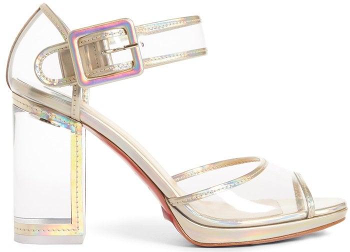 Platine Barbaclara Specchio Leather & PVC Platform Sandals