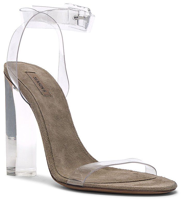 Yeezy Season 6 Lucite-Heel Transparent Ankle-Strap Sandals
