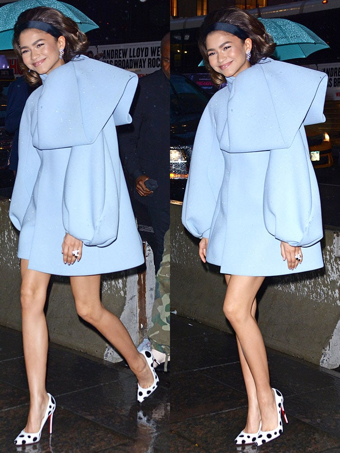 Zendaya at the Tiffany & Co. Paper Flowers event in New York City on May 3, 2018.
