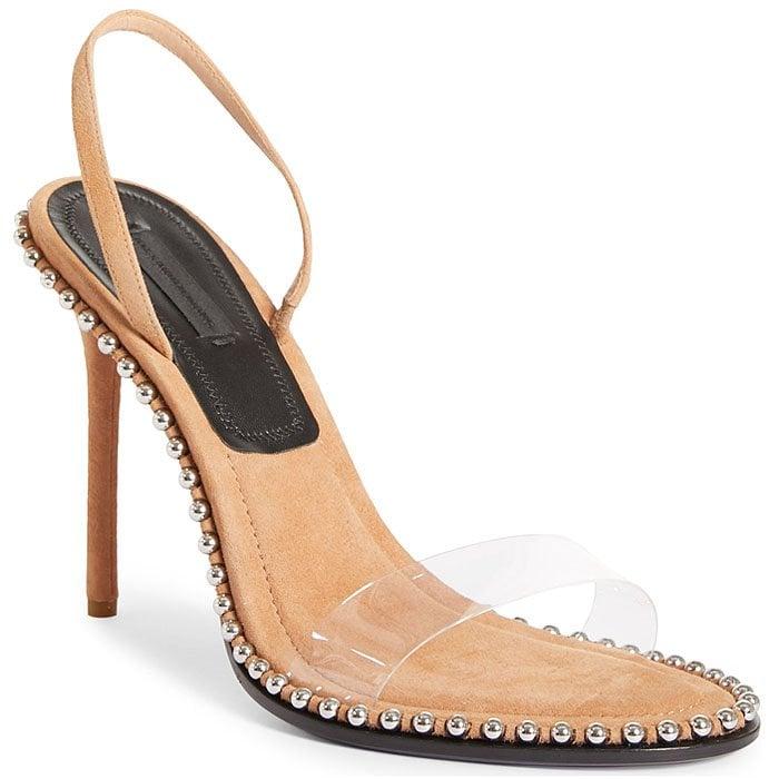 Alexander Wang Nova Studded Slingback Sandals