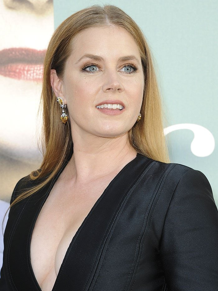 Amy Adams wearing Cartier jewelry.