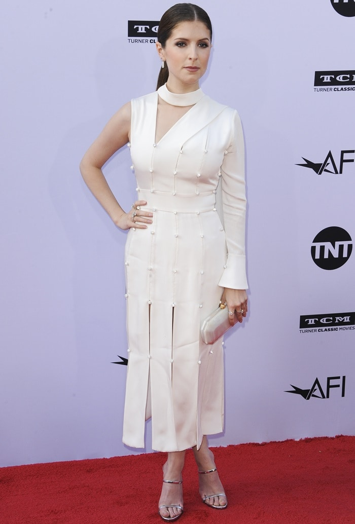 Anna Kendrick attends the American Film Institute's 46th Life Achievement Award Gala Tribute to George Clooney in Hollywood, California, on June 7, 2018