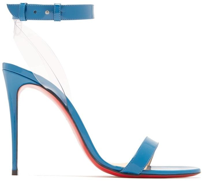 Blue Jonatina Leather & PVC Sandals