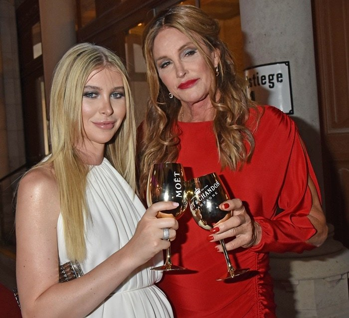Caitlyn Jenner and Sophia Hutchins posed for photos together on the red carpet at the 2018 Life Ball in Vienna, Austria, on June 2, 2018
