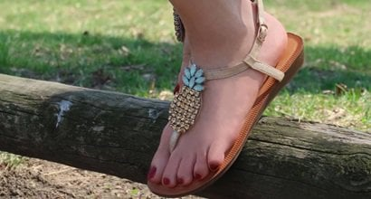 f1ce4a52b0fd Must-See Tropical Pineapple-Embellished Slingback Thong Sandals