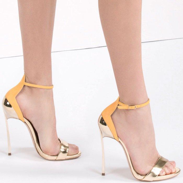 Gold & Orange Crodino Techno Blade Sandals