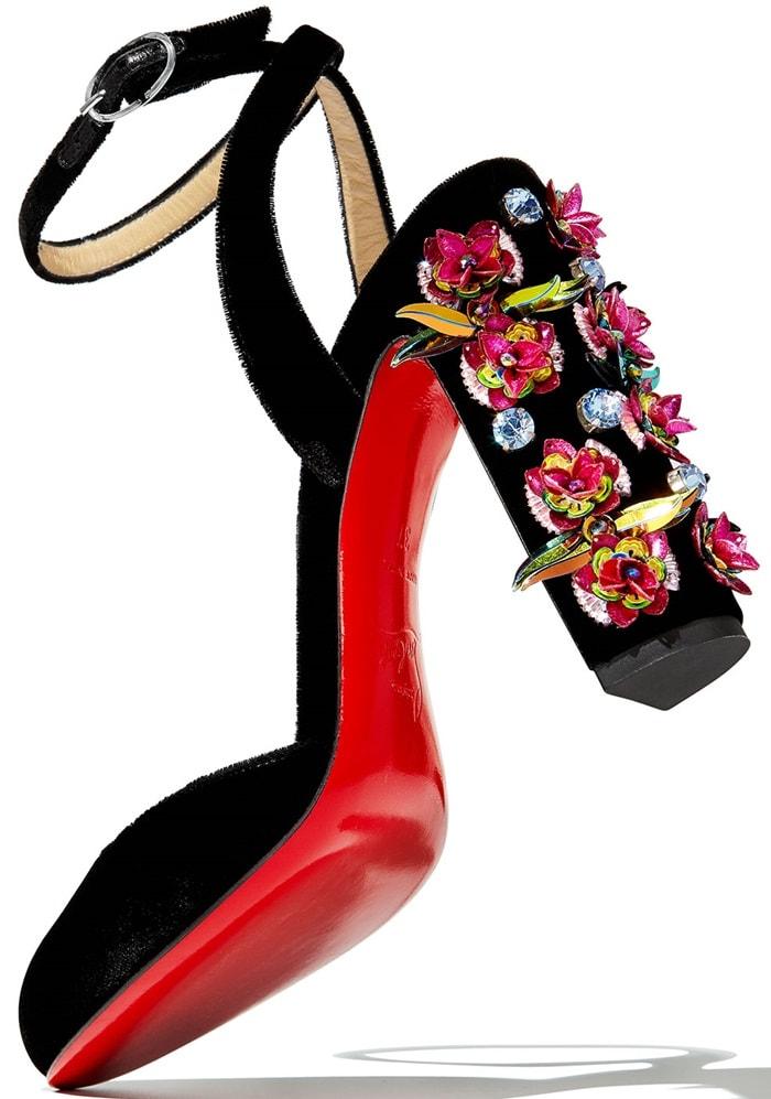 Christian Louboutin Madonaflor Floral Block Heels