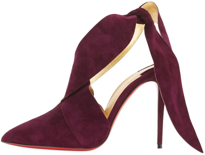 Christian Louboutin Ramour Suede Red Sole Pumps
