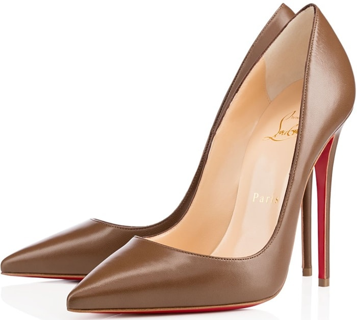 Brown Leather Pointed-ToeChristian Louboutin So KatePumps