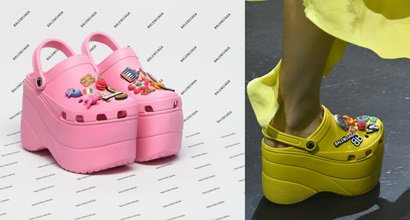8651528cd5d320 Balenciaga Elevates Crocs to New Heights With  850 Embellished Rubber  Platform Sandals