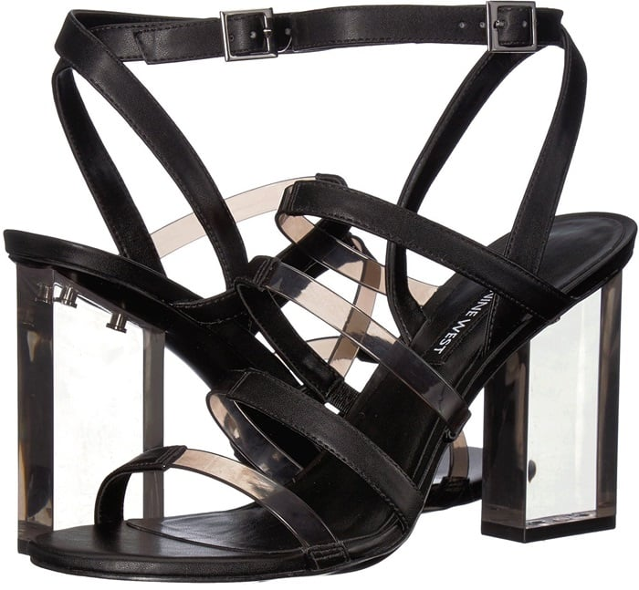 Clearly a fabulous choice for parties, these sandals from Nine West feature slim straps that ladder their way up to an adjustable ankle strap for a perfect fit