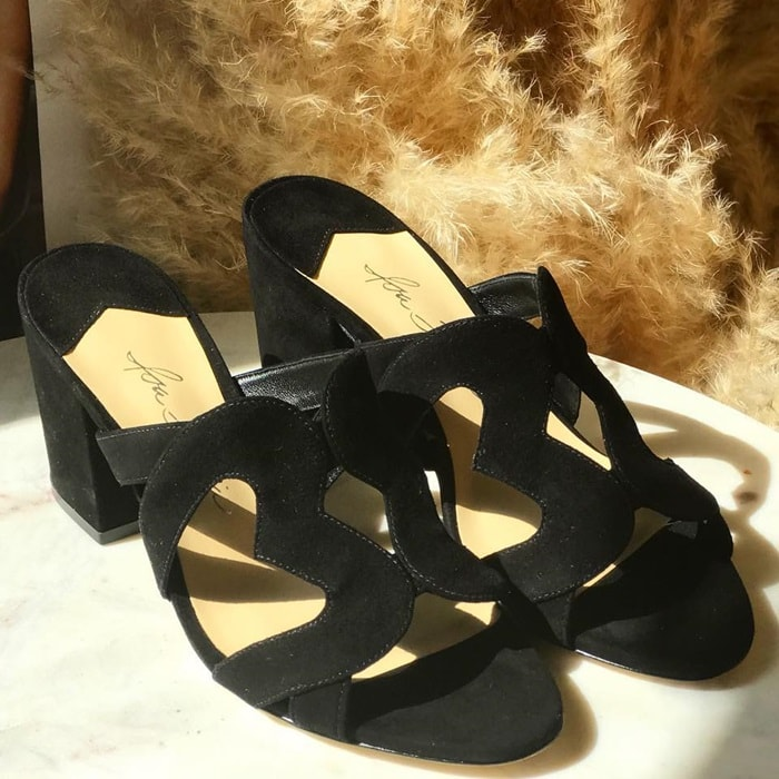 Isa Tapia Black Block Heels