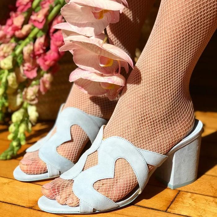 Isa Tapia Blue Block Heels