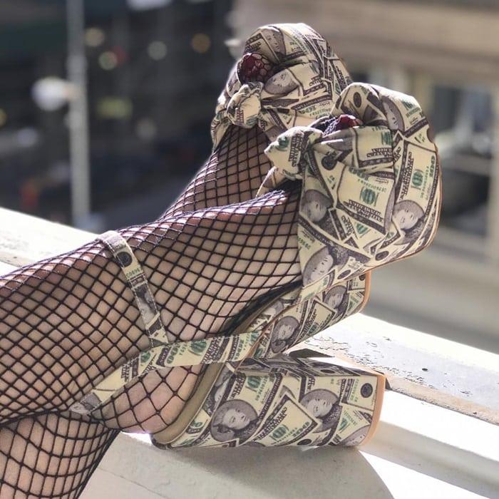 Isa Tapia Mia Moretti Shoe Collaboration Dollar Bill