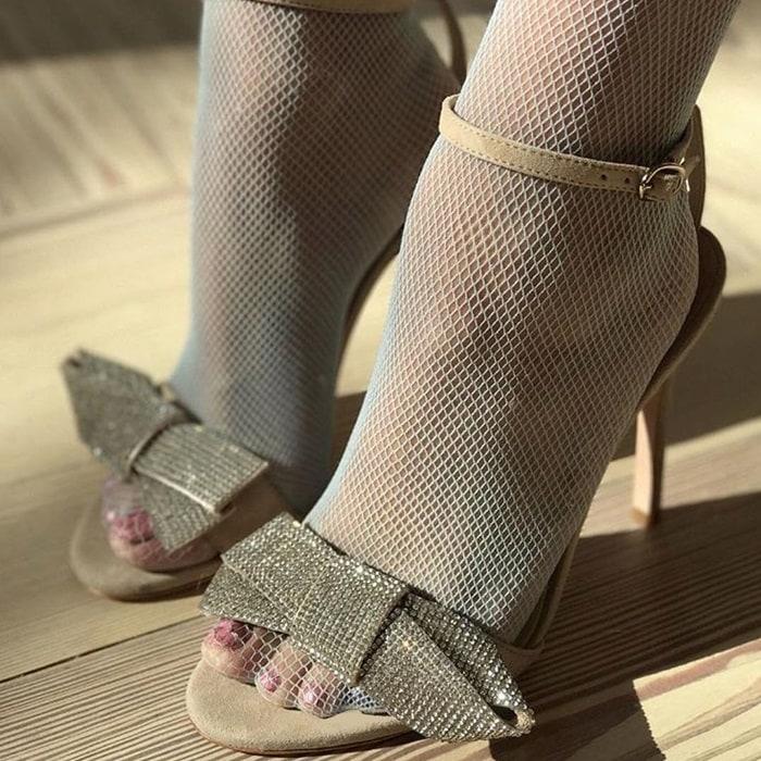 Isa Tapia glitter heels