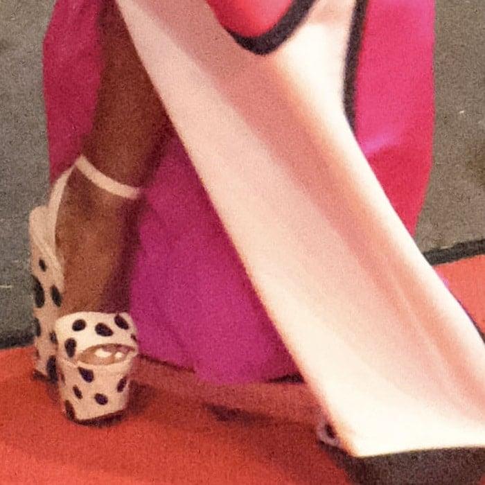 Janelle Monae's Bibariellita polka dot red sole sandals
