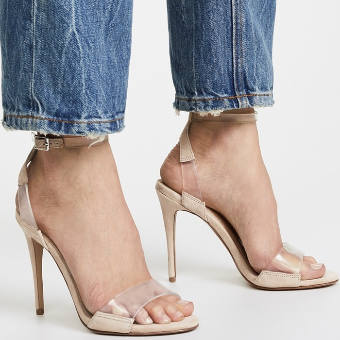 KENDALL + KYLIE Enya Ankle Strap Sandals With Transparent Straps