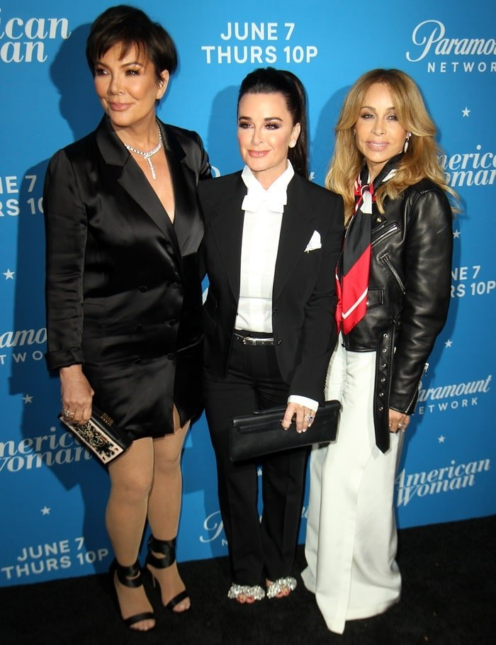 Kris Jenner posing with notorious gal pals Faye Resnick and Kyle Richards Umansky