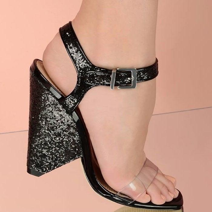 Schutz 'Lys' Cone Heel Sandals