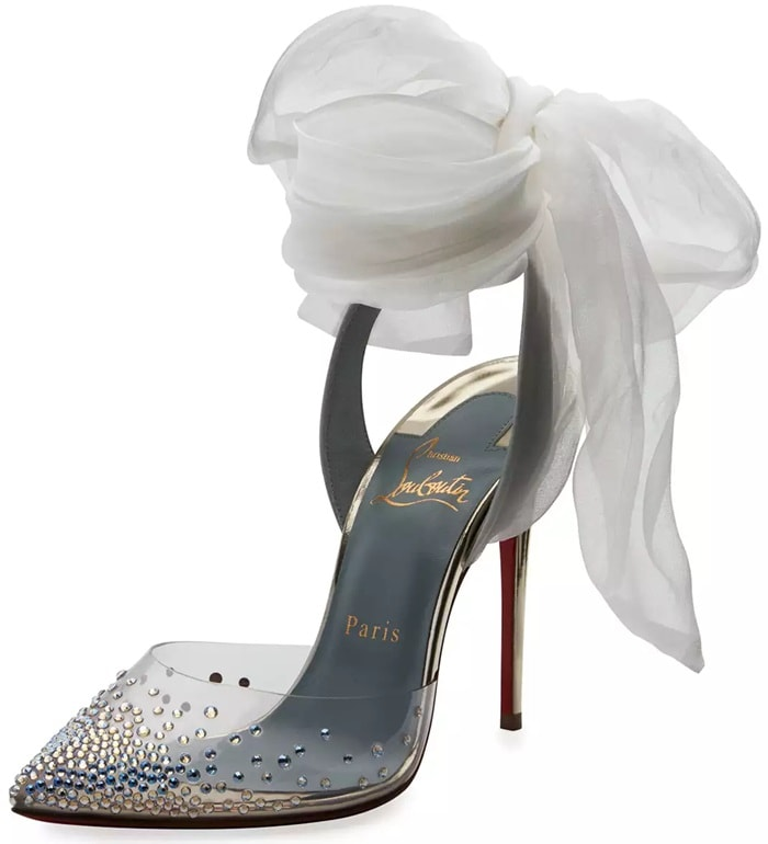 Christian Louboutin Miragirl Ankle-Wrap Red Sole Pumps