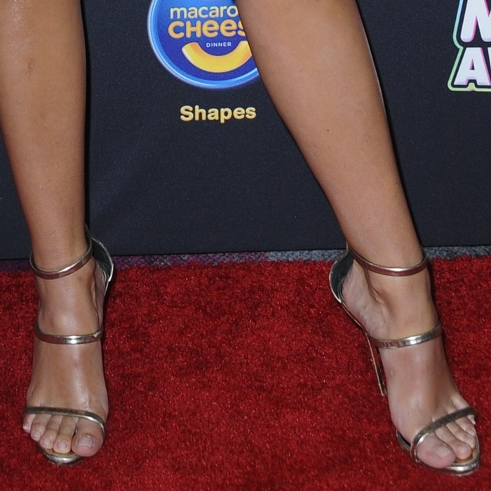 Olivia Holt showing off her sexy legs and feet in Giuseppe Zanotti Harmony sandals