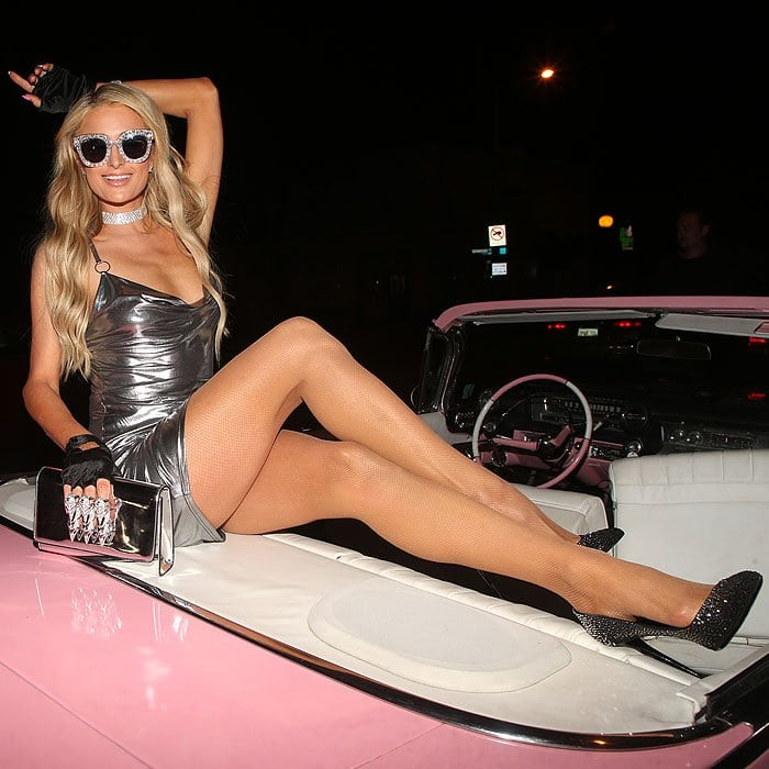 Paris Hilton at the Paris Hilton x Boohoo collection launch party.