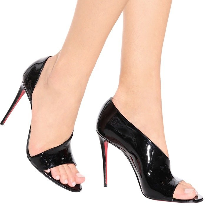 Black Phoebe Patent Leather Sandals