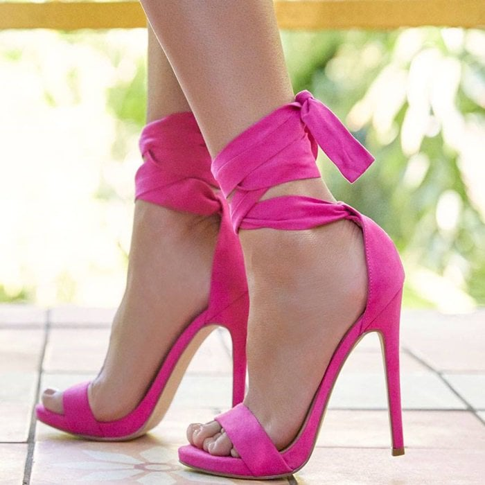Rachael Ankle Wrap Stiletto Heels