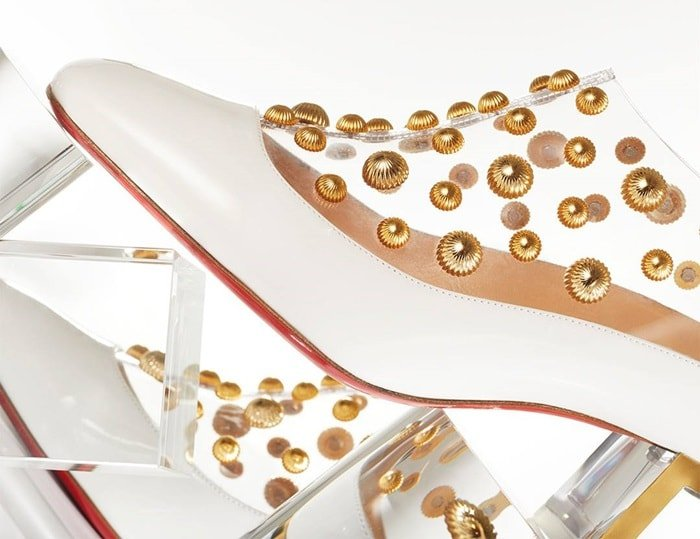 White Space Odd Studded Red Sole Booties