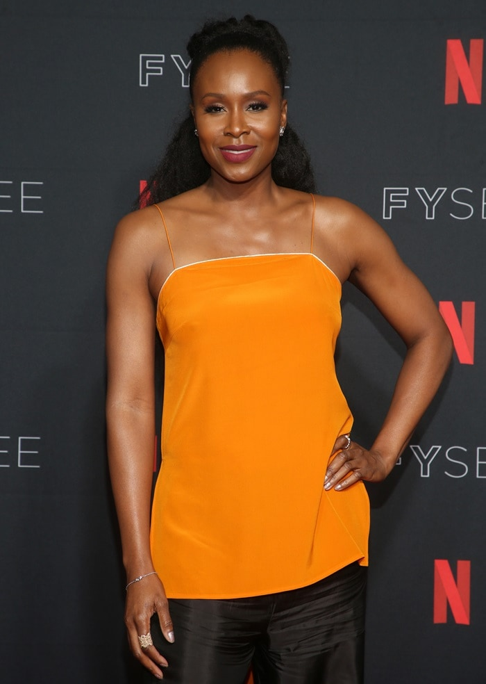 Sydelle Noel inatangerine high-low hem tank top fromWinonah's Spring 2017 Collection