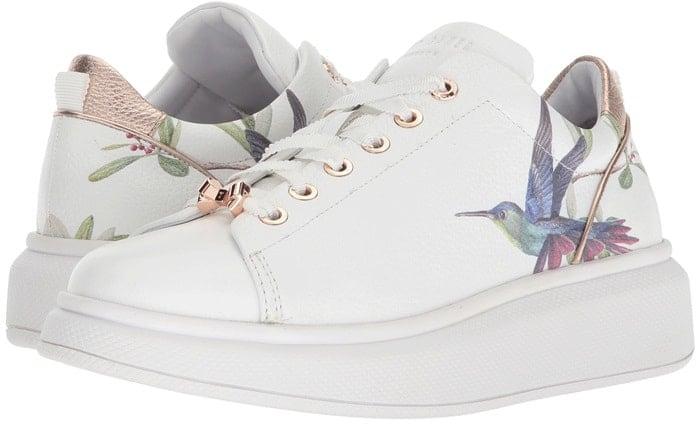 Highgrove Hummingbird Leather 'Ailbe' Sneakers