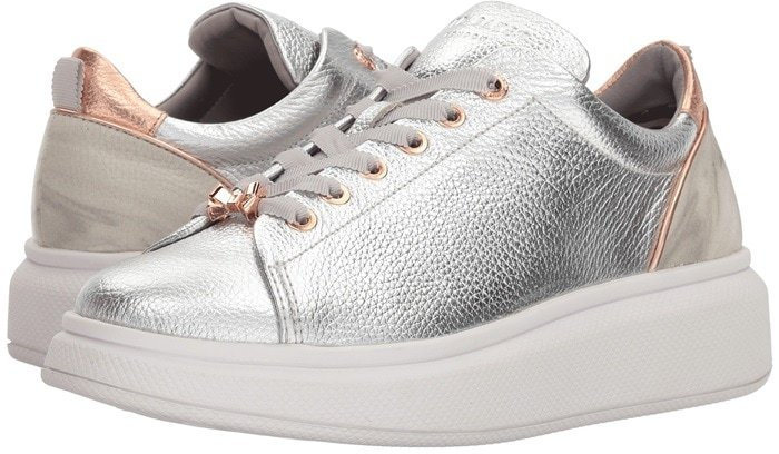Silver Leather Ailbe Sneakers
