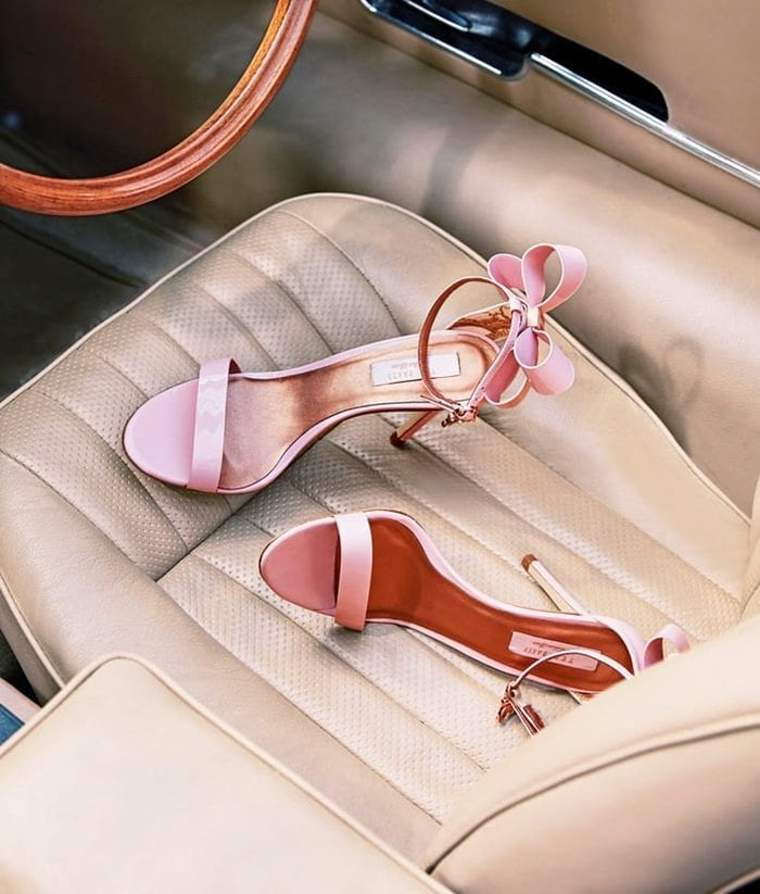 'Sandalc' Bow Satin Sandals