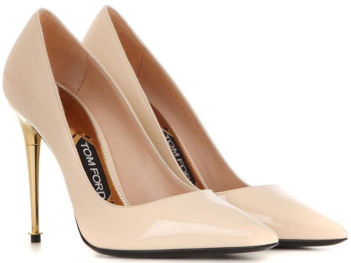 Tom Ford Patent Spike-Heel Pumps