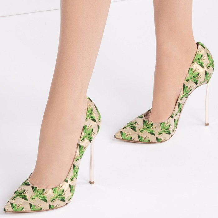 Green Blade Bee Shoes