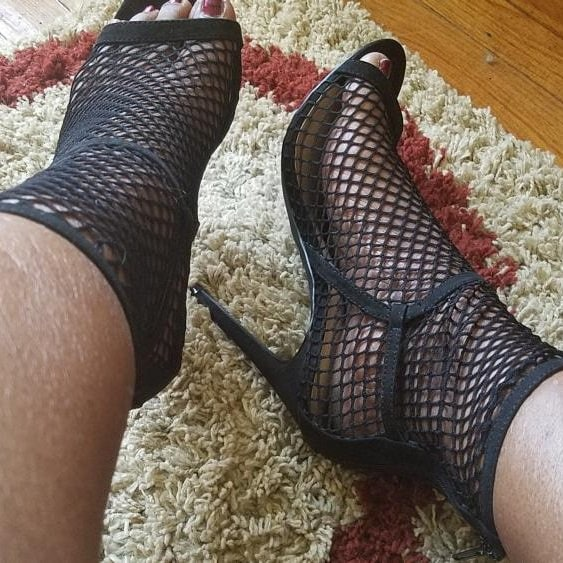 Black Fishnet Sock Shooties