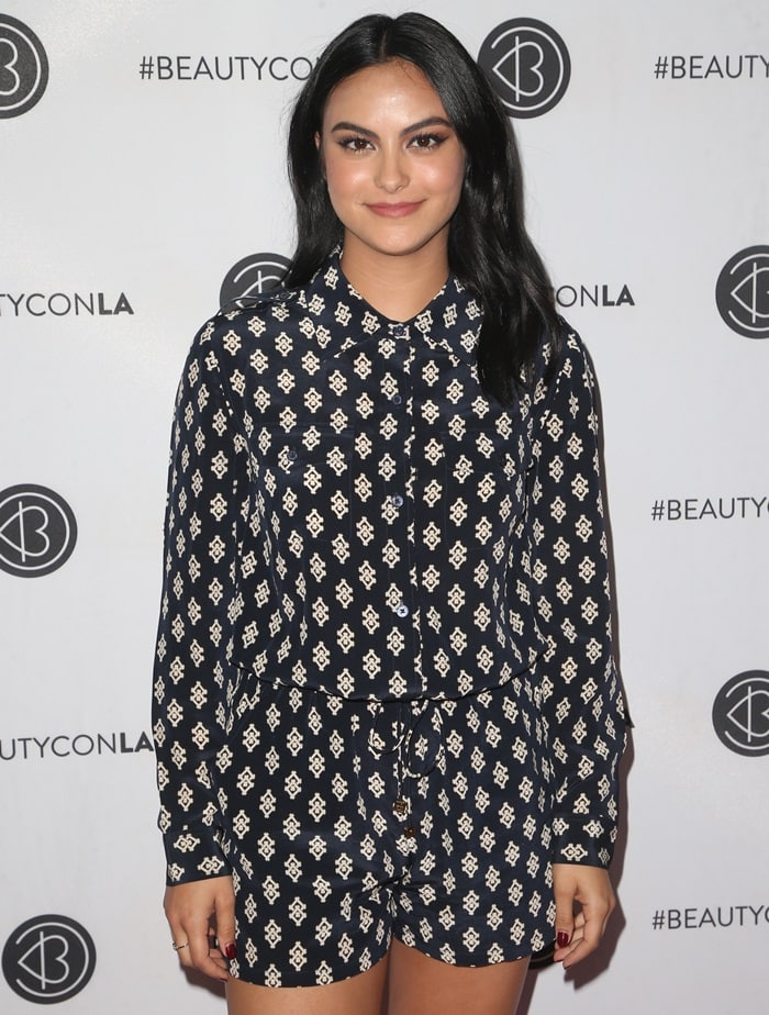 Camila Mendes stepped out for the 2018 Beautycon Festival held at the Los Angeles Convention Center in Los Angeles on July 14, 2018