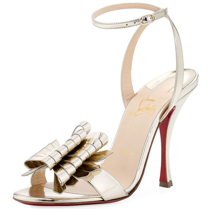 "Christian Louboutin ""Miss Valois"" Bow Sandals"