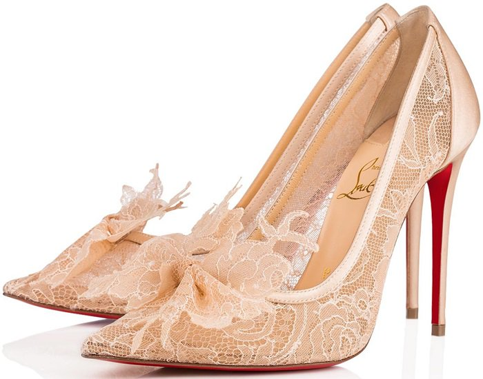 Nude Floral Lace Delikatissima Pumps