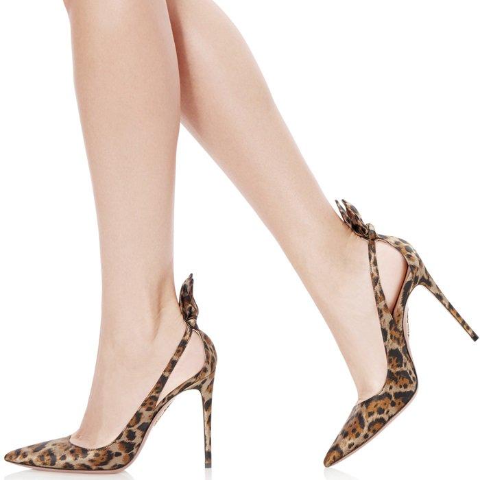 Leopard Deneuve Bow Pointy Toe Pumps