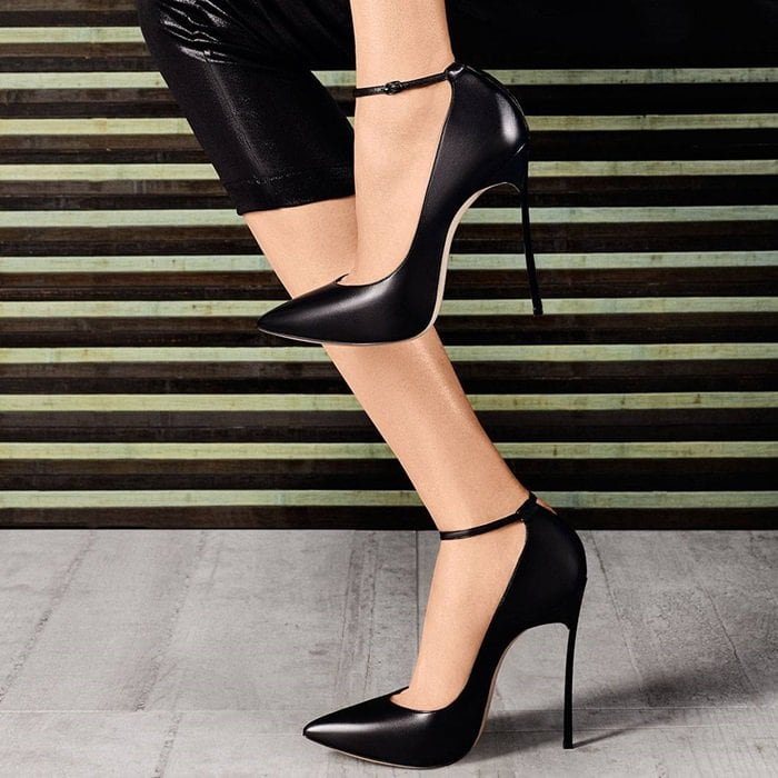 Ebony Black Blade Pumps