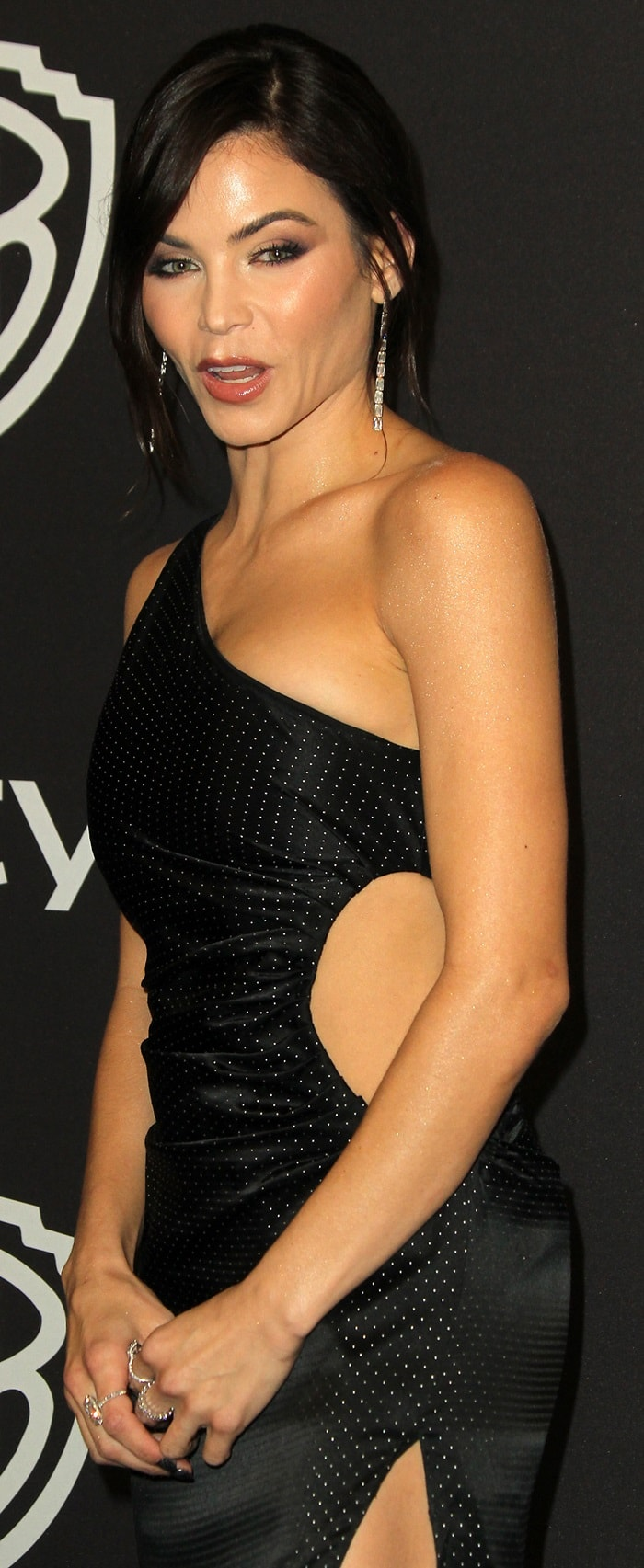 Jenna Dewan in a daring cutout gown at InStyle's Golden Globes After Party