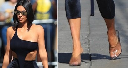 c8527d8d6cd Kim Kardashian's Sexy Feet and Hot Nude Legs in Hot High Heels