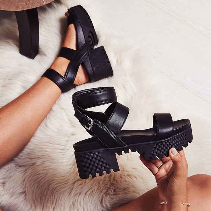 Kira Chunky Sandals in Black